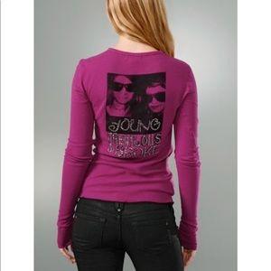 Young Broke and Fabulous Crystal Logo Thermal Tee